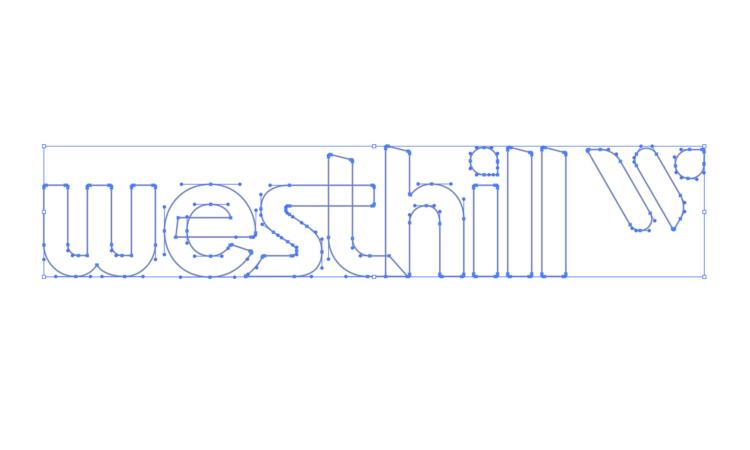 westhill Logo Process Vectorizing Logomark